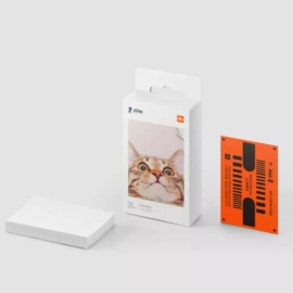 """Xiaomi Mi Portable Photo Printer Paper fotó papír színes nyomtatáshoz (2x3"""", 20 darab)"""