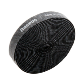 Baseus tépőzáras vágható kábelkötegelő és rendező (8mm x 3m) fekete