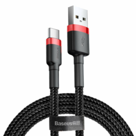 Baseus Cafule USB - USB Type-C 2A 2m kábel - fekete-piros