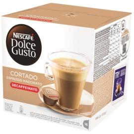 Nescafe Cortado Espresso Macchiato Decaffeinato koffeinmentes Dolce Gusto kávékapszula (16db)