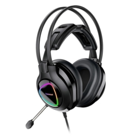 Tronsmart Glary Alpha Gaming RGB headset világító headset játékosoknak - fekete