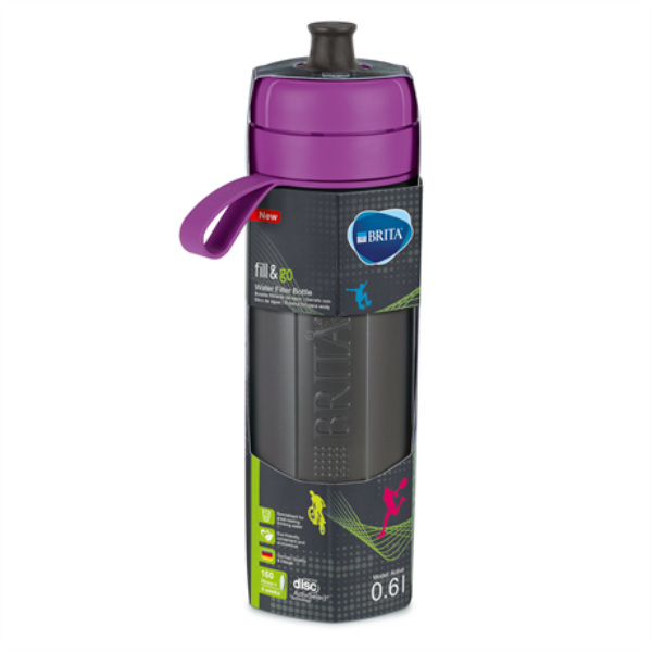 Brita Fill & Go Active vízszűrő kulacs 600ml - lila