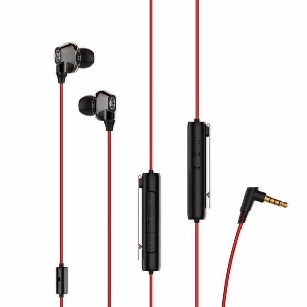Baseus H08 Immersive virtual 3D vezetékes gaming headset piros-fekete