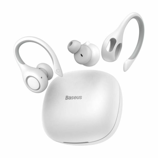 Baseus Encok W17 TWS bluetooth vezeték nélküli sport fülhallgató fehér