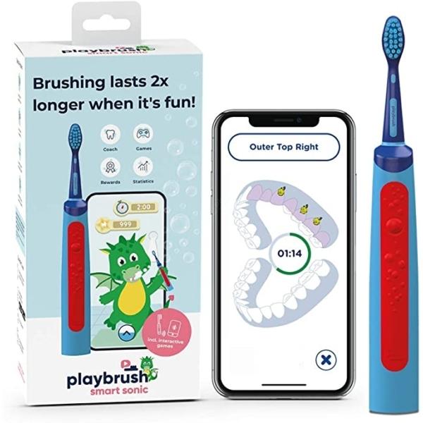 Playbrush Smart Sonic gyerek elektromos fogkefe - kék-piros