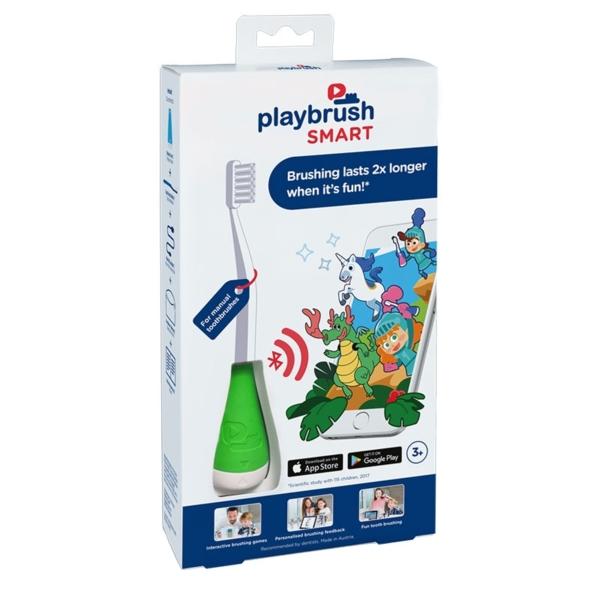 Playbrush Smart okos fogkefe bölcső manuális fogkefékhez - zöld