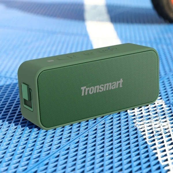Tronsmart Element T2 Plus 20W hordozható bluetooth hangszóró - sötétzöld