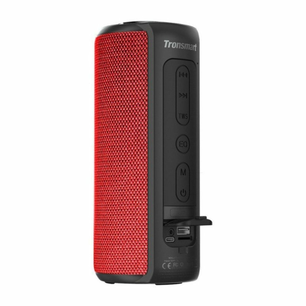 Tronsmart Element T6 Plus 40W hordozható bluetooth hangszóró - piros