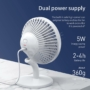 Kép 3/10 - Baseus Ocean Fan asztali ventilátor 2000mAh akkumulátorral - fehér