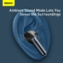 Kép 8/12 - Baseus SIMU S1 Pro ANC TWS bluetooth headset töltőtokkal - fekete