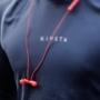 Kép 6/9 - Nillkin E4 Soulmate IPX4 vezeték nélküli bluetooth headset - piros